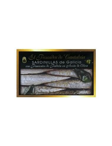 Sardinillas de Galicia con Pimientos de Padrón El Pescador de Cantabria