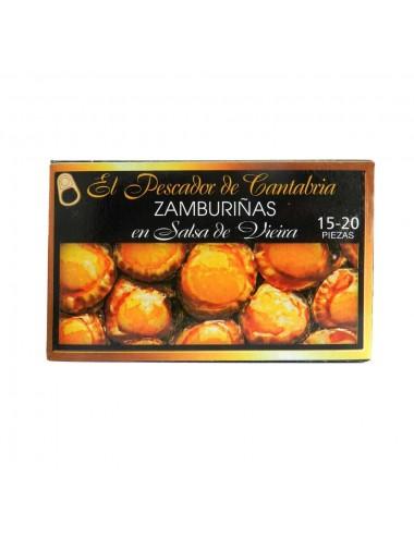 Zamburiñas en Salsa Vieira El Pescador de Cantabria