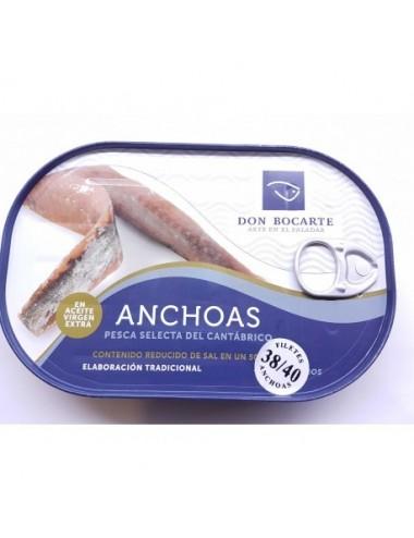 Anchoa Don Bocarte en Aceite de Oliva Virgen 38 a 40 filetes