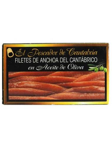 Anchoas del Cantábrico en Aceite de Oliva Virgen El Pescador de Cantabria 120g