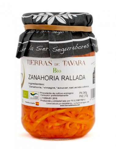 Zanahoria en tiras Tierras de Tavara  Bio