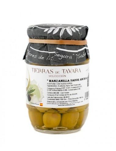 Aceitunas de Manzanilla sabor Anchoa Tierras de Tavara