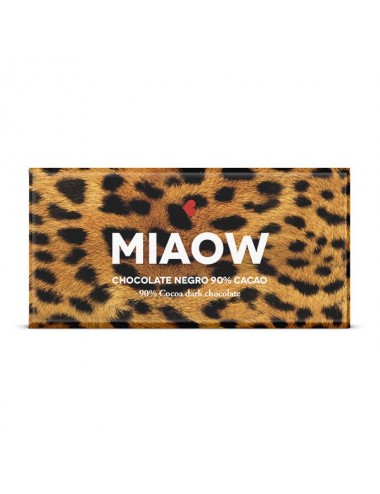 Miaow. Chocolate negro 90% cacao Young and Beautifood