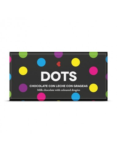 Dots. Chocolate con leche y grageas de colores Young and Beautifood