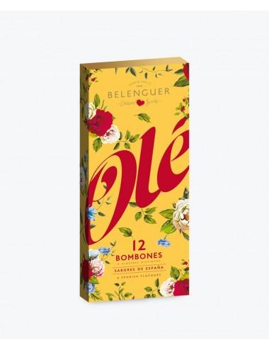 Caja de bombones Serie OLÉ amarilla (12 uds.)