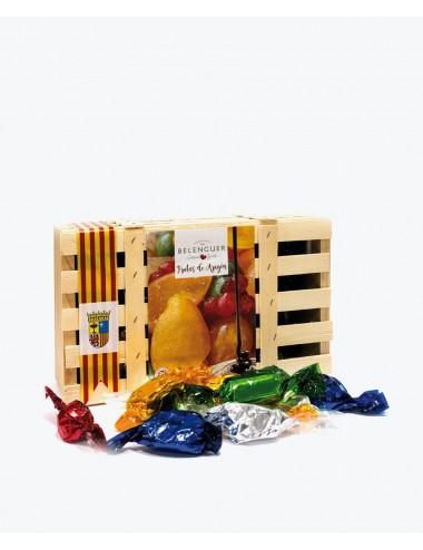 Frutas de Aragón bañadas en chocolate 400gr