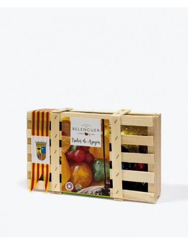Frutas de Aragón bañadas en chocolate 200gr